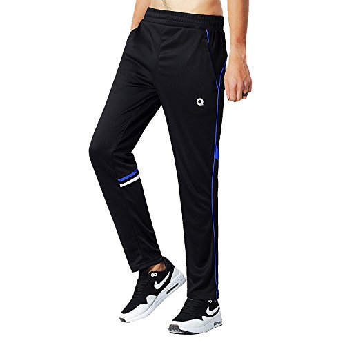 Mens Basketball Warm Up Pants (Ogeenier Men's Warm up Track Pants Soccer Training Pants with Non-slip Zipper Pocket Mens Running Jogging Sweat Pants)