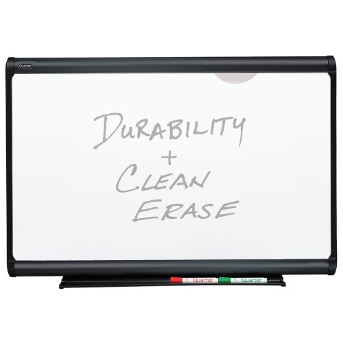 Plus Magnetic Total Erase Porcelain - Quartet Prestige Plus Magnetic Total Erase Porcelain Board, 3 x 2 Feet, Graphite Frame (P553G)