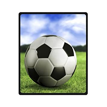 Amazon Football Soccer Ball Fleece Blanket And Throws Travel New Soccer Blankets And Throws
