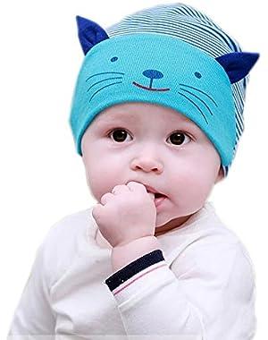 Adorable Blue Cat Baby Beanie Cap