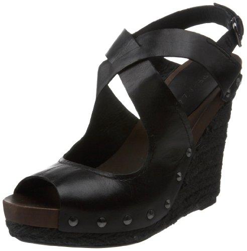 Apepazza Leather Wedges - Apepazza Women's Nasso, Black, 36.5 EU/6.5 M US