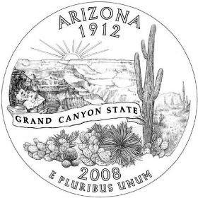 US 2008 P MINT ARIZONA QUARTER UNC COIN by US Mint