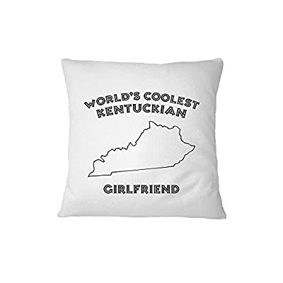 World'S Coolest Kentuckian Girlfriend Kentucky Sofa Bed Home Decor Pillow Cover