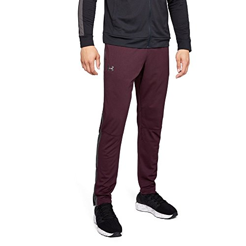 Under Armour Men's Sportstyle Pique Pants , Dark Maroon (600)/Charcoal, Small -