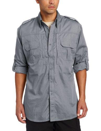 Us Army Breast Badge - Propper Men's Long Sleeve Tactical Shirt - X-Large Regular - Grey
