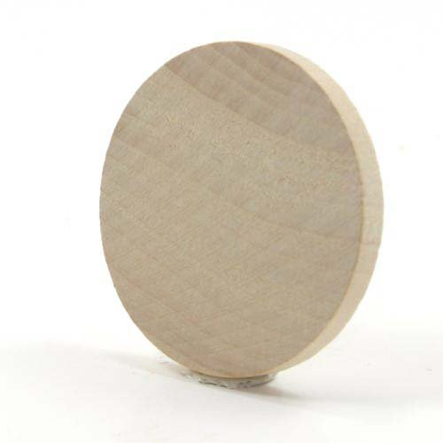 Mylittlewoodshop - Pkg of 12 - Circle Cutout - 2 inches in diameter and 1/4 inch thick unfinished - Thick Circle