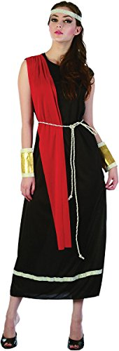 Toga Costume Ideas For Women (Adults Fancy Dress Party Greek Roman Goddess Toga Women's Complete Costume Black)