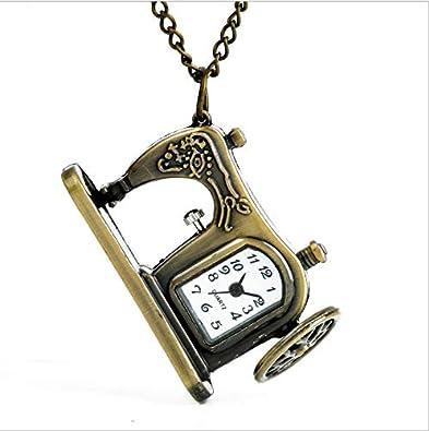 GUHUA Retro Cuarzo Reloj de Bolsillo Vintage Hombres Mujeres ...