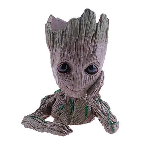 (Baby Flowerpot Cute Action Figures Toys Pen Pot Holder Hero Model Vessel)