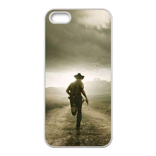 The Walking Dead Poster coque iPhone 4 4S cellulaire cas coque de téléphone cas blanche couverture de téléphone portable EOKXLLNCD20337