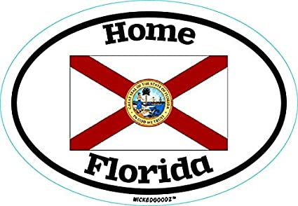 Perfect Vacation Gift State Flag Bumper Sticker WickedGoodz Oval Georgia Home Vinyl Decal