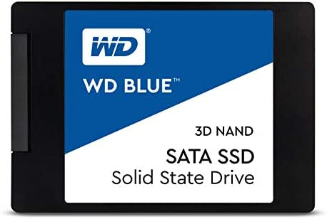 "Western Digital 500GB WD Blue 3-d NAND Internal PC SSD - SATA III 6 Gb/s, 2.5""/7mm, Up to 560 MB/s - WDS500G2B0A"