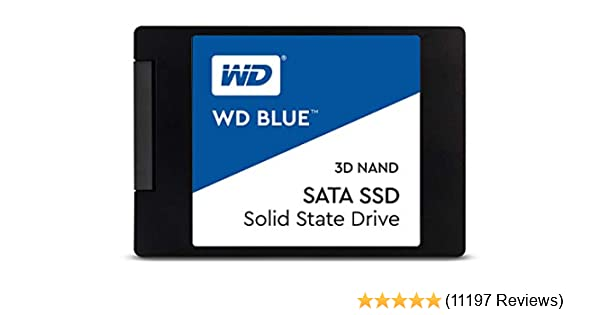 "WD Blue 3D NAND 500GB Internal PC SSD - SATA III 6 Gb/s, 2.5""/7mm, Up to 560 MB/s - WDS500G2B0A"