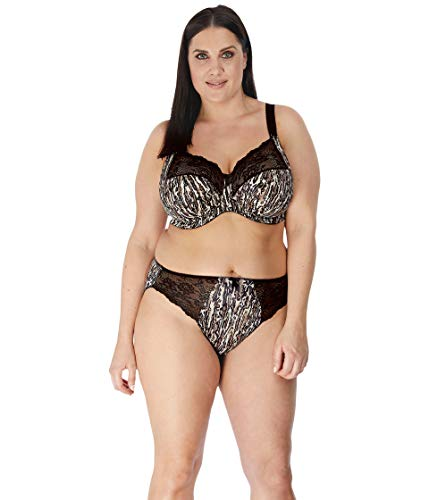 Elomi Morgan Underwire Full Cup Bra with Stretch Lace Ocelot 36G (US 36I)