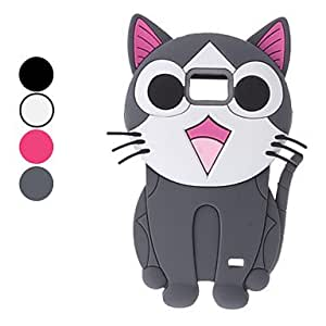 Lovely Cat Design Soft Case for Samsung Galaxy 2 I9100 (Assorted Colors) --- COLOR:Black