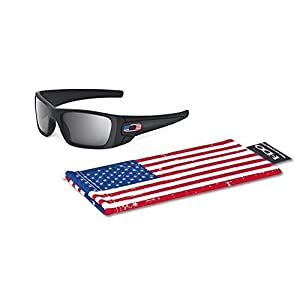 Oakley Si Fuel Cell US Flag Matte Black Sunglasses With Grey Lenses 009096-38