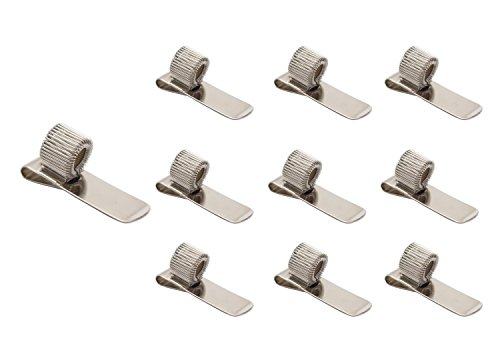 Stainless Pen Holder Clip for Notebook and Clipboard with Spring Fits Almost All Pen Size,10 Pack from Devis