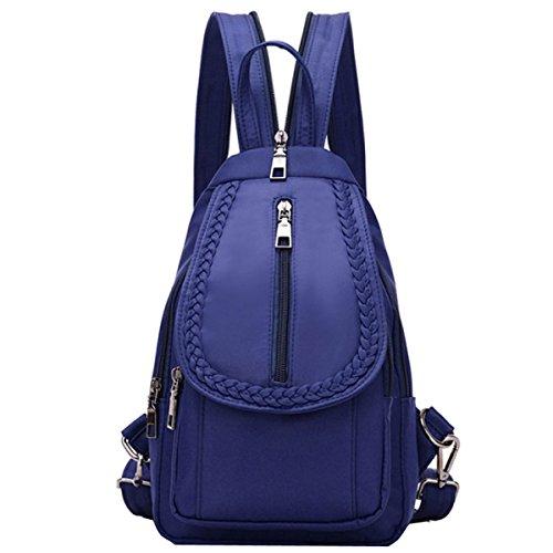 Bordo Donna Computer Multifunzionale Spalla Bag Piccolo Petto Blu Tela Messenger Di q1x0W46Z