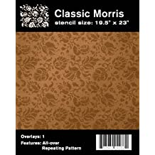 Faux Like a Pro William Morris Wallpaper Stencil, 19.5 by 23-Inch, Single Overlay