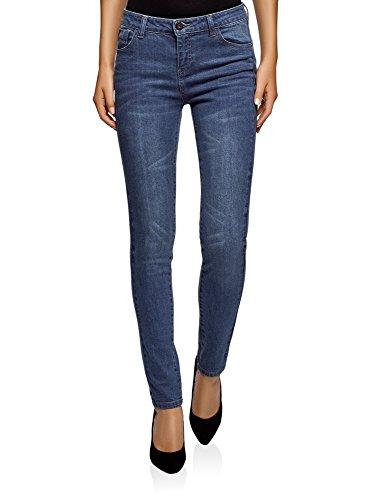 A Donna 7500w Skinny Ultra Media Vita Jeans Blu Oodji qzxO1nRwfI