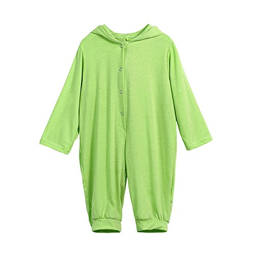 Dinosaur Hooded Romper Vibola Baby Boy Girl Clothes (Size:3M, Green)
