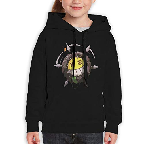 Onetwoonethree Teenager Overwatch Junkrat Classic Hoody for Boys and Girls 31 Black