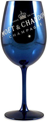 Moët & Chandon Champagne Glass Goblet Navy Blue x 1 (Moet Champagne Glass)