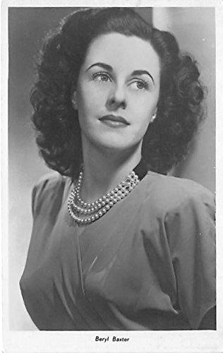 Theater Actor/Actress Old Vintage Antique Postcard Post Card, Postales, Postkaarten, Kartpostal, Cartes, Postkarte, Ansichtskarte Beryl Baxter Unused