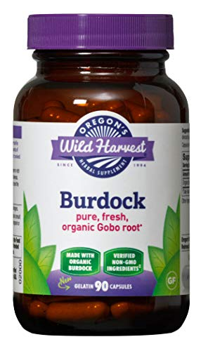 Oregon's Wild Harvest Non-GMO Burdock Capsules, Organic Herbal Supplements (Packaging May Vary), 90 Count