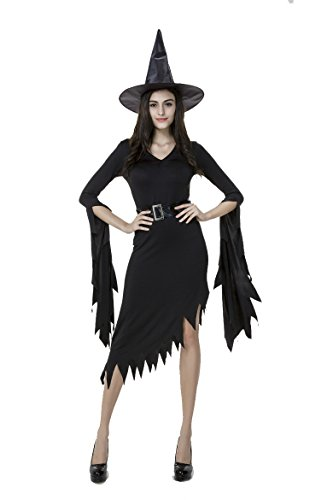 [Blidece Women's Wicked Witch Costume] (Sexy Witch Costumes Plus Size)