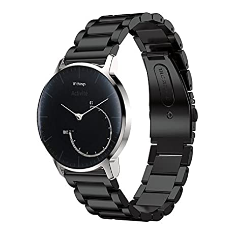 Pinhen 18mm 20mm 22mm Correa Reloj - Metal Acero Inoxidable Pulseras Repuesto para Huawei Talkband B5, Huawei Watch, Huawei Fit, Withings Activite, ...