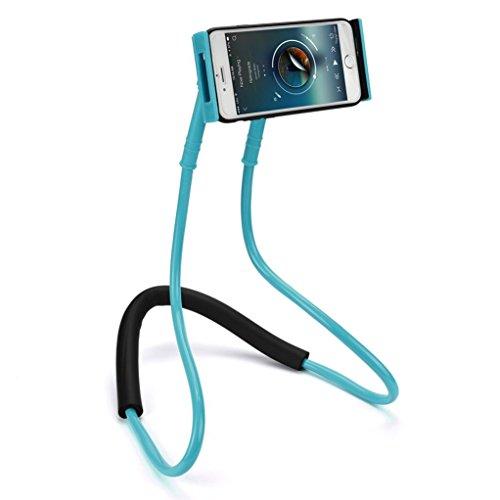 Lazy Bracket,Sunfei Universal Lazy Hanging Neck Phone Stand Mount Necklace Support Bracket Holder (D) (Socket Neck Great)