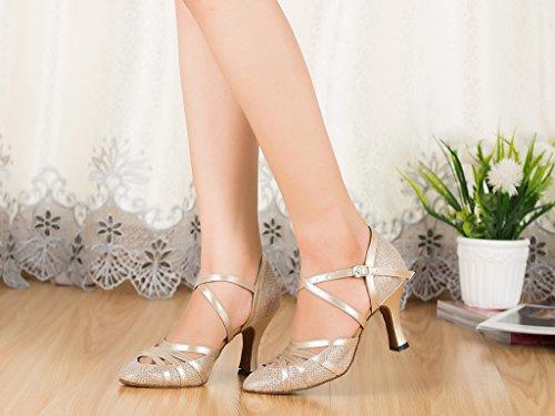 Femme Champagne Danse de Meijili 8cm Heel Salon HW2943 wpqwRC