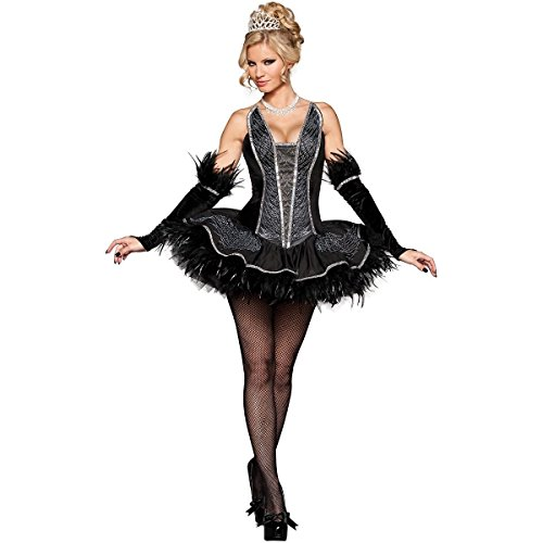 [MutterMui Black Swan Costume Adult Sexy Ballerina Ballet Halloween Fancy Dress Small] (Black Swan Costumes For Halloween)