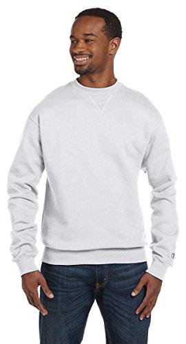 Champion Crew Sweatshirt (Champion Men's Athletic 2x1 Ribbed Sweatshirt, X-Large, Silver Gray)