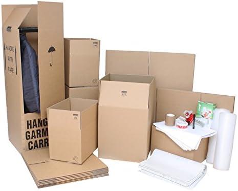 Casa eliminación Pack – 30 x todo rayo marca doble pared Flatpack cajas de cartón y 4 x eliminación de armario cajas y materiales de embalaje.