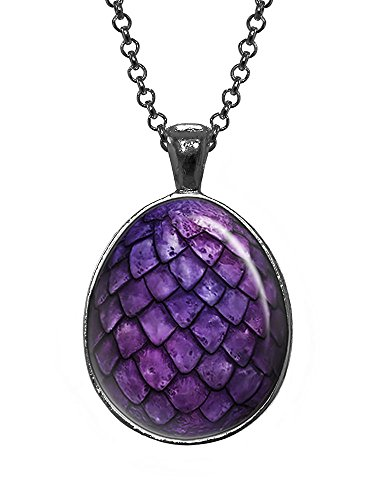 Purple Dragon Egg Pendant, Game of Thrones Jewelry, Geek Necklace, Girl Gift, Birthday Gifts, khaleesi, Daenerys (Dragon Girl Game Of Thrones)