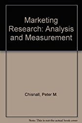 Marketing Research: Analysis and Measurement