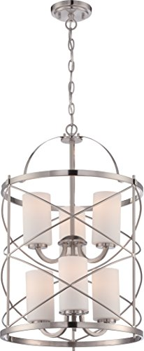Nuvo Lighting 60/5329 Six Light Chandelier - Nickel Transitional Six Light