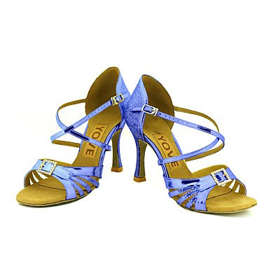 Negro Salsa baile Latino Personalizado Zapatos Plata Azul Oro Tacón Silver Rojo Personalizables de 16qESxFw