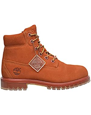 6 Inch TPU Outsole Waterproof Suede Premium Big Kid's Boots Rust tb0a1bks
