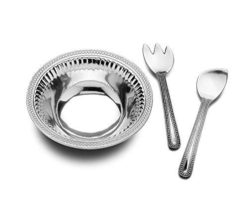 - Garden Décor Premium Flutes and Pearls Medium 3-Piece Salad RVing t, 3-Quart