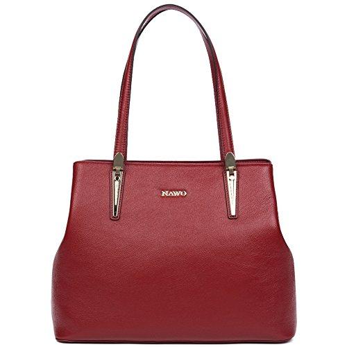 Purse Women's NAWO Cross Leather Handle Top wine Red Hobo 29 Totes Bags Shoulder Body Handbags FBpfq1
