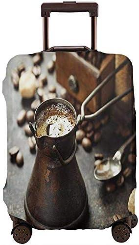 Cubierta de Equipaje de Viaje Antigua cafetera y Molino de café Antiguo en la fabricación de Bebidas rústicas oscuras Protector de Maleta de tamaño L: Amazon.es: Equipaje