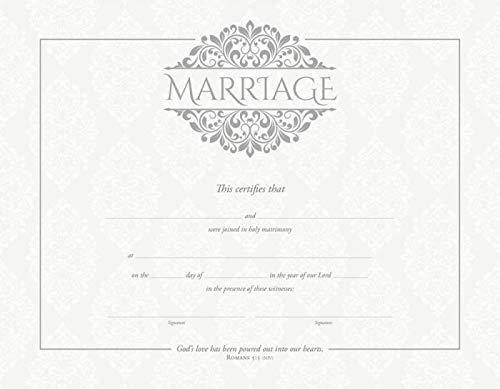 Certificate - Marriage (Premium Silver Embossed) (Pack Of 6)