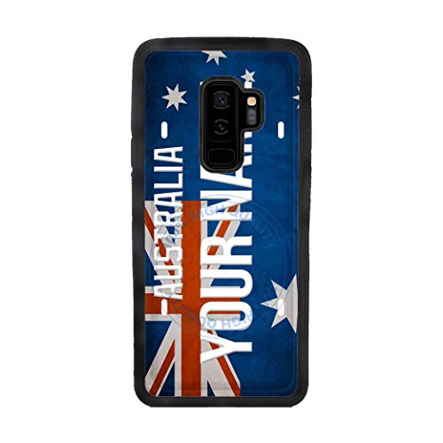 BRGiftShop Personalize Your Own License Australia Flag Country Plate Rubber Phone Case For Samsung Galaxy S9