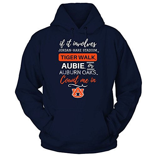 If It Involves Jordan-Hare Stadium - Auburn Tigers - Gildan Unisex Pullover Hoodie - Officially Licensed Fashion Sports Apparel by FanPrint