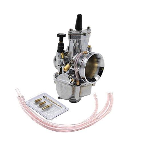 MagiDeal Carburador con Chorro Herramienta de Motocicleta para PWK OKO KOSO ATV UTV KTM EXC YFM660 - Chorme 34mm