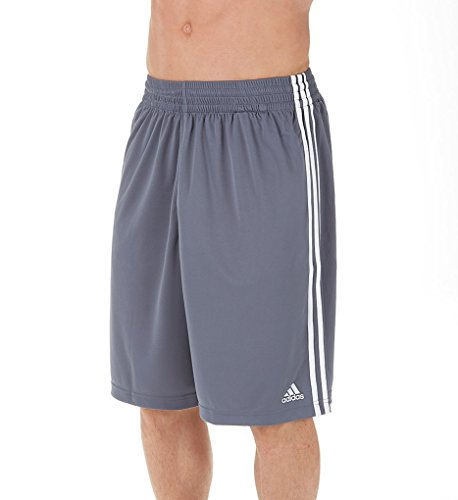 Adidas Climalite Basketball Practice Shorts L Lead-White