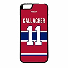 Montreal Canadiens Brendan Gallagher Jersey Back Case / Color Black Plastic / Device iPhone 6 Plus